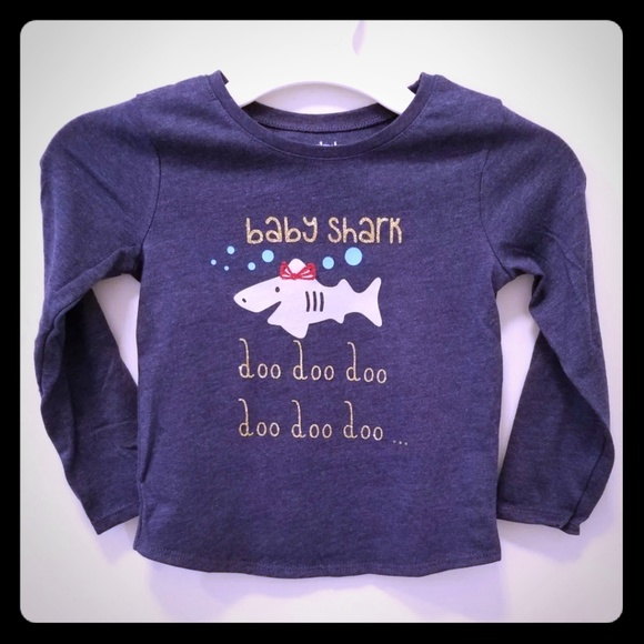 5b01dc6b3e60 Shirts & Tops | Handmade Baby Shark Toddler Girls Shirt 3t | Poshmark